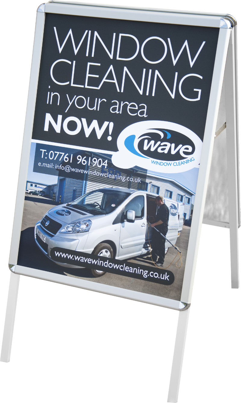 Wave advertising sign