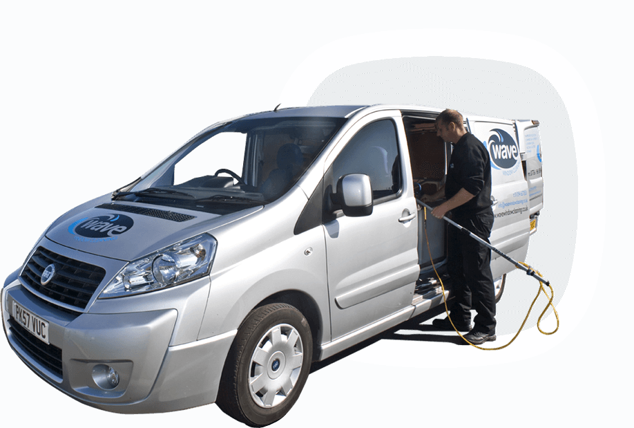 Wave window cleaning van